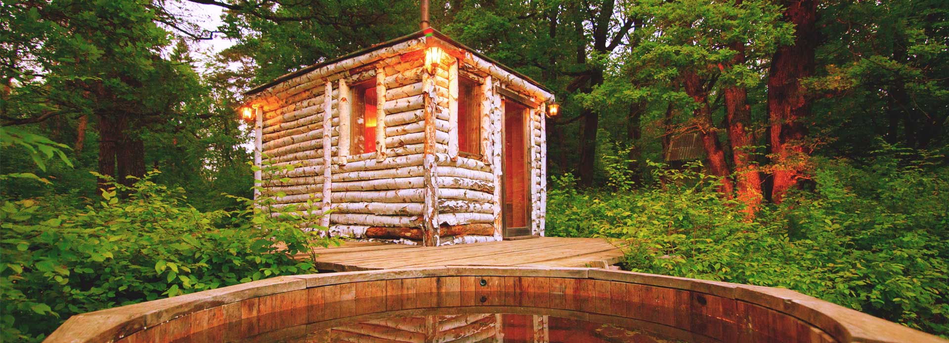 Sauna in the woods